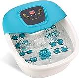 Foot Spa Massager with Heat,Multi-fuction Foot Bath Soak Shiatsu,8 Manual Roller Massage,O2 Bubbles,Adjustable Temperature,LCD Display,Bath Massager for Foot,Ankle,Leg,Calf