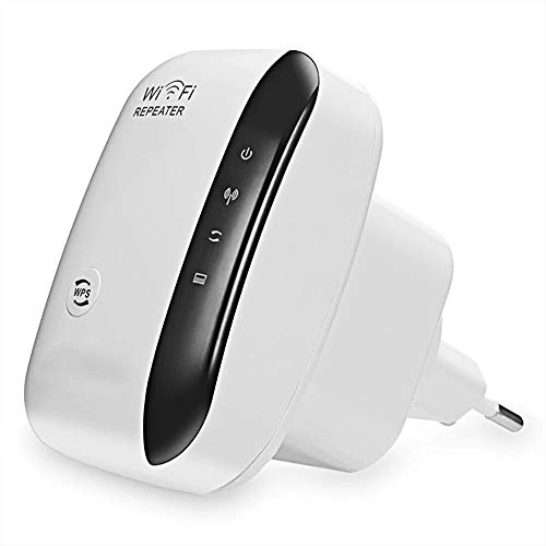 Lvozize Repetidor WiFi, Amplificador WiFi 300Mbps/2.4G WiFi Extender Amplificador Señal WiFi con Modo Repetidor/Ap Plug y Play Repetidor Inalámbrico con Botón WPS-Blanco (Blanco)