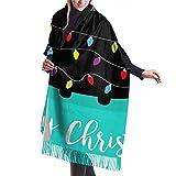 Feliz Navidad Gato Abeto Forma Guirnalda Luces Imitar Bufanda Pashmina Mantón Envolturas Suave Manta Bufandas Envoltura elegante para mujeres