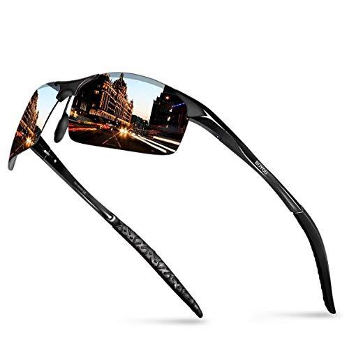 BOYOU Polarisierte Herren Sonnenbrille Sommer Draussen Eyewear Sonnenbrille für Herren