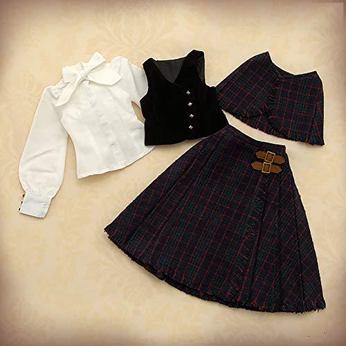 Clicked 1/3 BJD Kleidung britischen College Style Set beinhaltet Cape, Unterhemd, Bluse und Rock