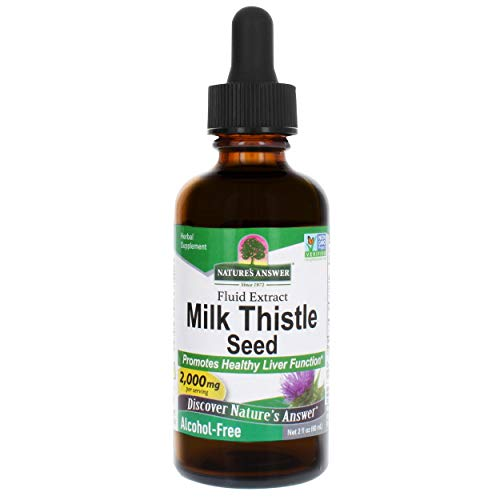 Nature's Answer Milk Thistle Extract | Promotes Healthy Liver Function | Cleanse and Detox Supplement | Non-GMO, Kosher Certified, Alcohol-Free & Gluten-Free (2 Fl Oz (Pack of 1))