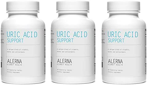 Alerna Kidney Health: Uric Acid Support with Tart Cherry , Celery Extract , Turmeric , Quercetin , and More to Support Normal Kidney Function