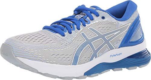 ASICS Women's Gel-Nimbus 21 Lite-Show Running Shoes, 6.5M, MID Grey/Illusion Blue