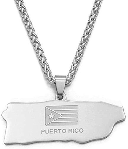 Yiffshunl Collar Moda Trinidad y Tobago Turquía Canadá Puerto Rico Kenia Jamaica Venezuela Surinam Haití Sur dominicano Sunan Guatemala Mapa Collares Collar
