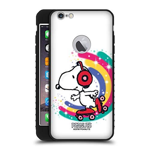 Head Case Designs Ufficiale Peanuts Skating Colorato Snoopy Passeggiata Aerografata Cover Blindata Lite Nera Compatibile con Apple iPhone 6 Plus/iPhone 6s Plus