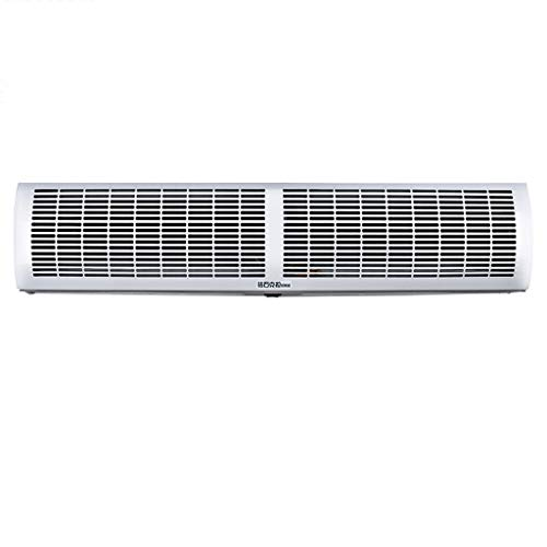 Cortina de aire Lxn Blanco Estuche de aleación súper Fino Comercial/Interior en casa 2 velocidades frío con Interruptor de botón, Potente, silencioso, Cuerpo pequeño, Peso Ligero