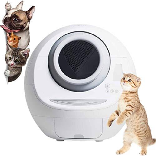 Eortzzpc Electrónico Arenero para Gatos con Autolimpieza Simply Clean, Caja De Arena Automática para Gatos, Funcionamiento Suave, Silencioso Y De Bajo Consumo