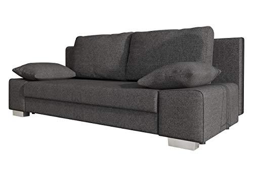 Mirjan24 Schlafsofa Laura, Couch mit Bettkasten und Schlaffunktion, freistehendes Schlafcouch, Couchgarnitur, Bettfofa, Sofa vom Hersteller (Lux 06)