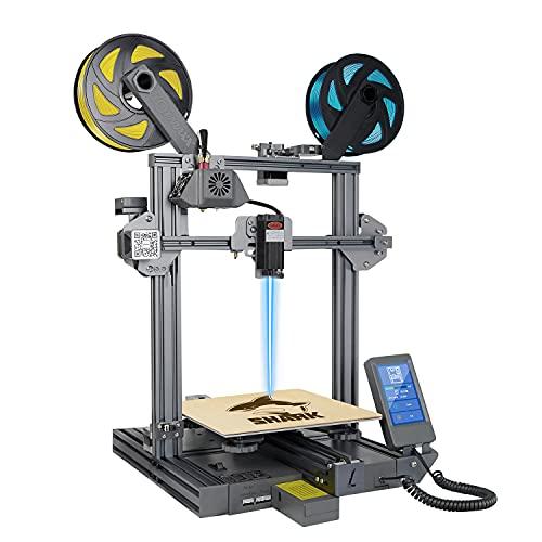 LOTMAXX Shark V2 3D Printer, Laser Engraving & Bi-Color Printing 2 in 1, Preassembled 3D Printer...