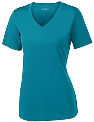 Joe's USA Women's Short Sleeve Moisture Wicking Athletic Shirt-Tropic-L