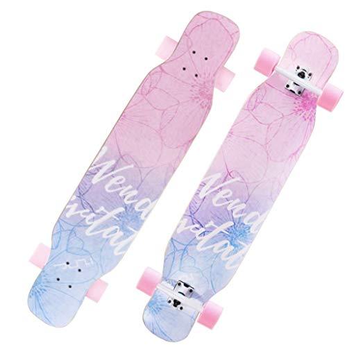 WXDP LongboardsCompleteBeginners Erwachsene Kinder Jungen Mädchen Double Kick Tails
