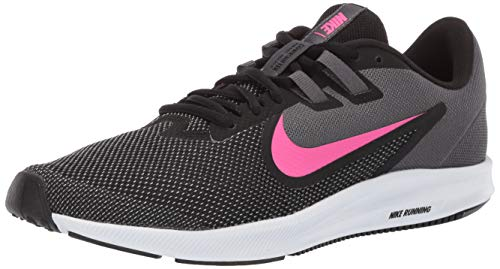 Nike Women's Downshifter 9 Sneaker, Black/Laser Fuchsia - Dark Grey, 9 Regular US
