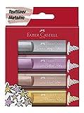 Faber-Castell - Textmarker Textliner 46 Metallic 4 Farben