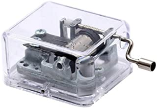 Unique Transparent Musical Box Acrylic Hand Crank Music Box, Melody Castle in The Sky