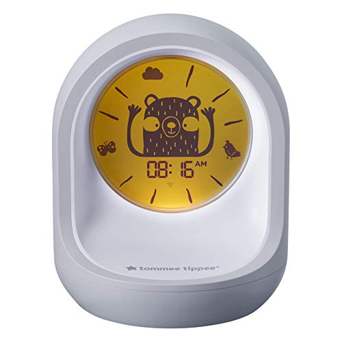 Tommee Tippee 423107 Tommee Tippee Schlaftrainer-Uhr, Einschlaf- und Durchschlafhilfe mit App für Kinder, weiß 569 g