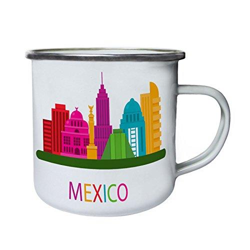 Viva Mexico Schädel-Party-Stadt Retro, Zinn, Emaille 10oz/280ml Becher Tasse x152e