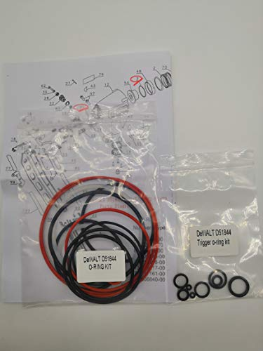 O-Ring Replacement Rebuild Kit for DeWALT D51844 Framing Nailer Universal and Trigger O-Ring Kit