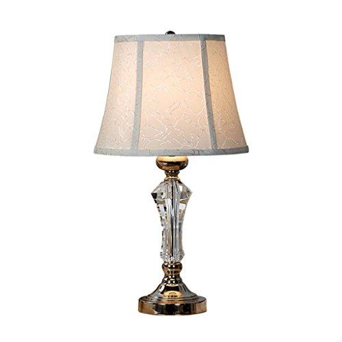 TangMengYun Style européen Simple LED Lampe de table en cristal, Warm Cloth Light Shade Lumières décoratives, Creative Living Bedroom Lampe de nuit Lampe de table Lampe de bureau (E27)