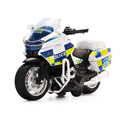 Die-Casting Motorcycle Toys - with Light and Music Toys Motorcycle Model , Toy Gifts On Christmas Eve Motorcycle Toy for Boys (White)