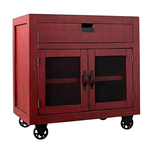 BOWERY HILL 2-Door Accent Chest in Red