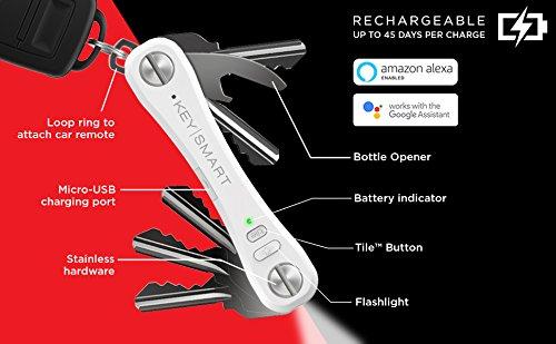 KeySmart Pro   Porte-Clés Compact avec Lampe LED et Géolocal