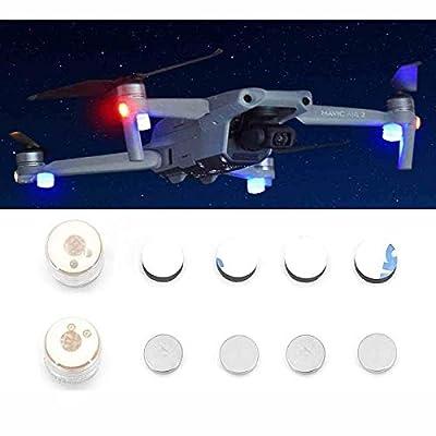 TOMAT Mavic Mini/Mavic Air 2/Mini 2 LED Night Flight Signal Night Lights Flashing Light Extension Alarm Indicator Light for DJI Mavic Mini/Mavic Air 2/Mini 2 Drone Accessories