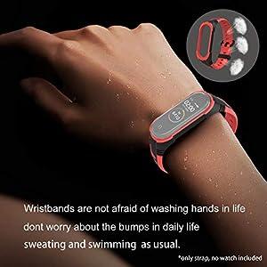 BDIG Kompatibel Für Xiaomi Mi Band 5 Mi Band 4 Armband, Sport Silikon Armband Smartwatch Ersatzbänder für Mi Band 5 Mi Band 3