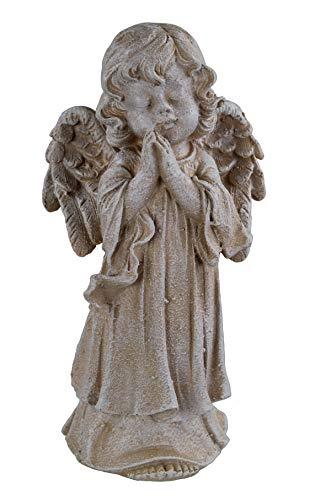 Figura decorativa para jardín (30 cm), diseño de ángel