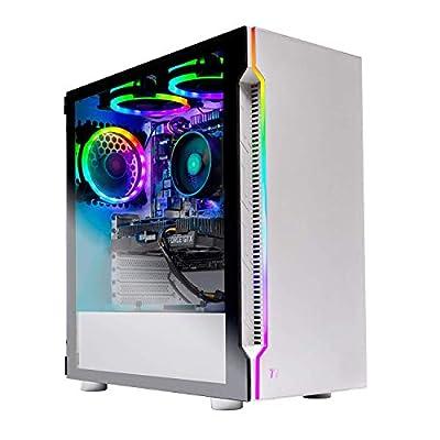 Skytech Archangel Gaming Computer PC Desktop – RYZEN 5 2600X 6-Core 3.6 GHz, GTX 1660 6G, 500GB SSD, 16GB DDR4 3000MHz, RGB Fans, Windows 10 Home from Skytech Gaming