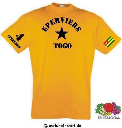 world-of-shirt Herren T-Shirt Togo / Eperviers im Trikot Look