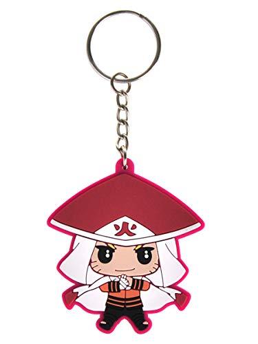 CoolChange Naruto Schlüsselanhänger mit PVC Naruto Uzumaki Chibi Figur im Nanadaime Hokage Outfit