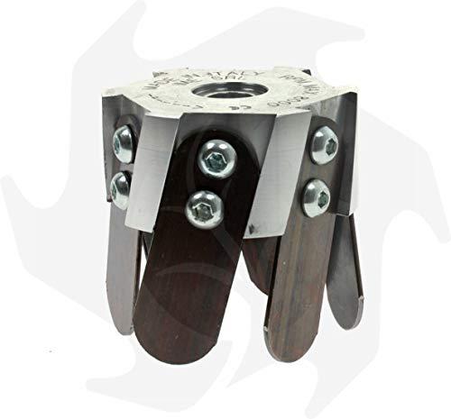 Fresa azada cabezal universal de aluminio para desbrozadora profesional