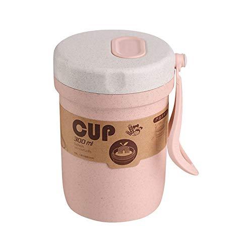 Taza de paja de trigo reutilizable, con paja de trigo sellada, taza de agua ecológica, biodegradable para agua, café, zumo, leche, té, apto para lavavajillas