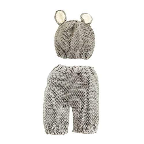 Accesorios para Fotos de Bebés Recién Nacidos Trajes de Fotografía para Bebés Pantalones de Sombrero de Punto para Niños Y Niñas