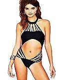 Costume da Bagno - Intero - Adatto a Adulti Donna & Ragazza - Colore Nero - Sexy - Moda Mare Spiaggia Piscina - Stagione Adatta: Primavera - Estate - Taglia M - Idea Regalo Originale