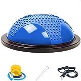 SANMONK Balance Board Ball Balance Trainer palla da ginnastica con cinghie Yoga Balance Ball e pompa a pedale per l'allenamento del nucleo casa fitness, allenamento di forza, palestra, stabilità