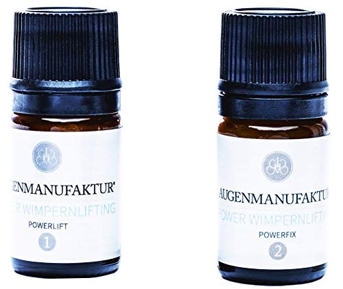 Augenmanufaktur Wimpernlifting Duo Set professionell für lange voluminöse natürliche Wimpern - Powerlift & Powerfix Fläschchen