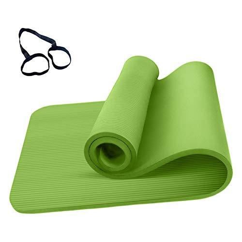 Roeam Yogamatte Rutschfest, Yogamatte 1cm Dicke, Yoga Matte, Fitness Sportmatte, Fitnessmatte, Gymnastikmatte für Damen Herren, 183cm x 61cm, Grün