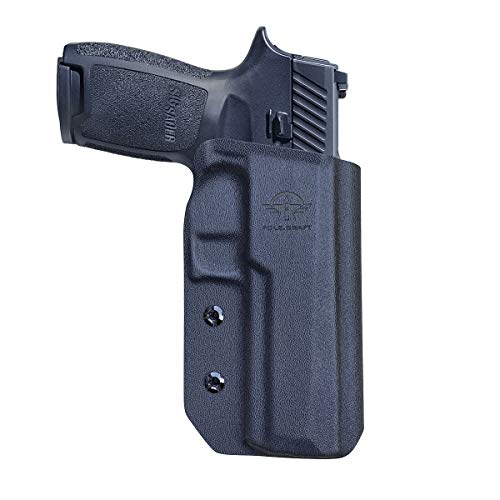 P320 Holster OWB Kydex for Sig Sauer P320 Carry / P320 Full Pistol Case, Outside Waistband Carry, with 1.5 - 2 Inch Belt Clip, P320 Accessories (Black, Right Hand Draw)