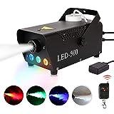 Fog Machine 500W Smoke Machine with RGB Mixed Color LED Lights Wireless Remote
