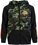 RBX Boys' Active Sweatshirt - Fleece Zip Hoodie, Size 10/12, Camo Green