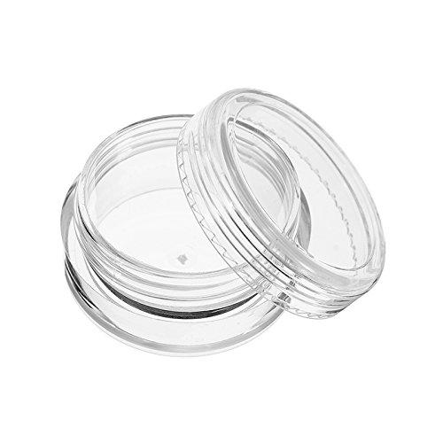 MJJEsports 12st heldere ronde plastic pot monster lege tin opslag containers met schroefdeksel