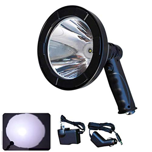 "Handheld Hunting Spotlight T6 LED 12V 5"" Rechargeable Portable Built-in..."