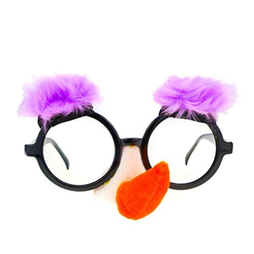 Holibanna Disfraz Gafas con Nariz Divertida Cejas Groucho Marx Gafas Divertidas Anciano