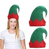 BELLE VOUS Gorro Navidad de Elfo con Cascabeles (Pack de 3) 28 x 27 cm Gorro...