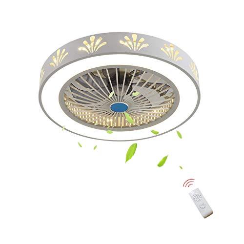YQJJZX LED kreativen Fan-Deckenleuchte, Moderne dimmbare Deckenleuchte, Kronleuchter Deckenleuchte Schlafzimmer Wohnzimmer Ventilator Deckenleuchte Beleuchtung Energiesparventilator Lampe