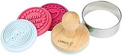 Lurch 10524 Sellos para Galletas, 6 Piezas, de plástico, Multicolor, 6 x 6 x 6 cm