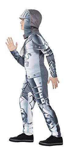 Smiffys Kinder Deluxe Ritter Kostüm, Jumpsuit und Kapuze, Größe: M, 43168 - 2