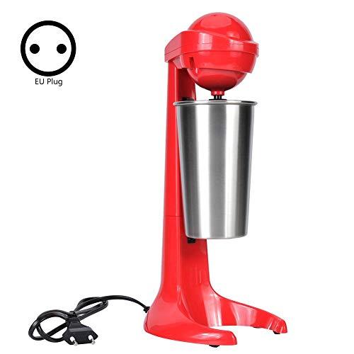 Zerone Milkshake Machine, Double Tête Électrique Milkshake Machine Maker Café Boisson Mélangeur Lait Mélangeur pour Home Bar(Prise UE 220V)